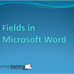 Fields in MS Word